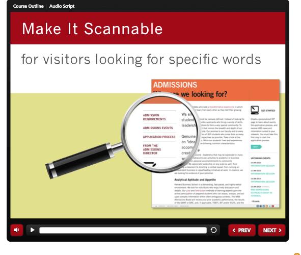 Stanford GSB: Web Author Training