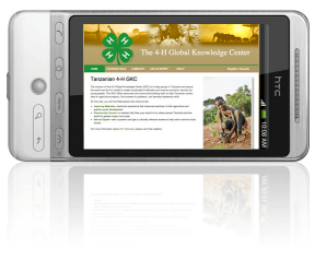 4-H project displayed on a smart phone