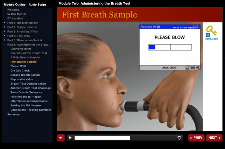 Massachusetts State Police Forensics Group Web-Based Training for Breath Test Operators