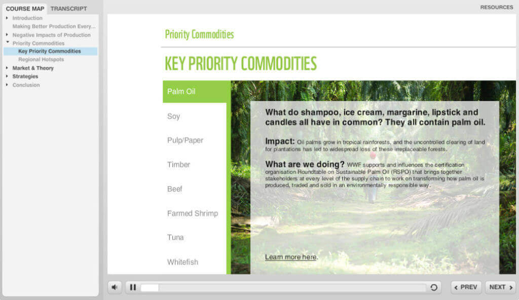 WWF Priority Commodities