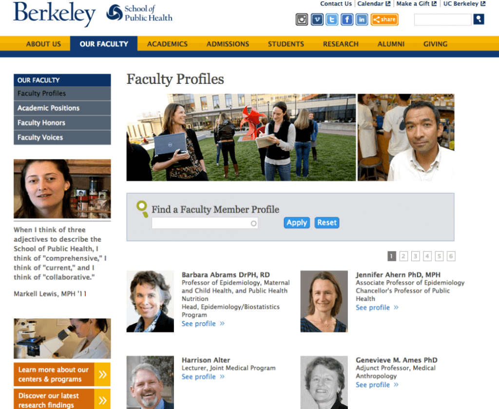 Berkeley Our Faculty