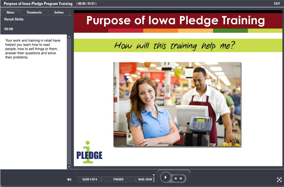 Purpose of Iowa Pledge Training