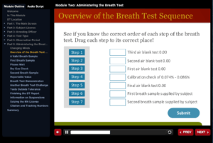 Overview of Breath Test Sequence