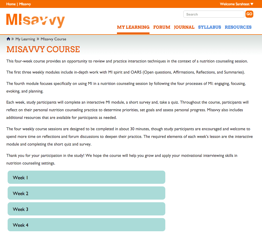 Misavvy Course