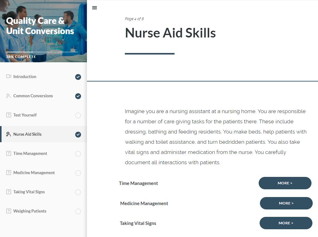 Nurse Aid Skills